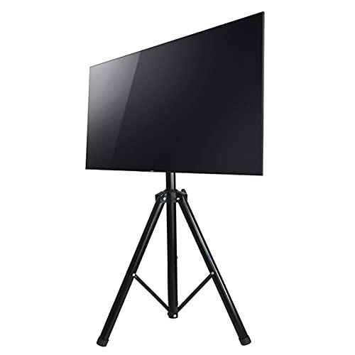 Soporte TV Ruedas Suelo Soporte de TV para trípode para 32 40 43 55 pulgadas TV, Portátil Soporte para TV de piso inclinable Altura ajustable con VESA 400x400 mm, Montaje rápido, Soporta 44 libras