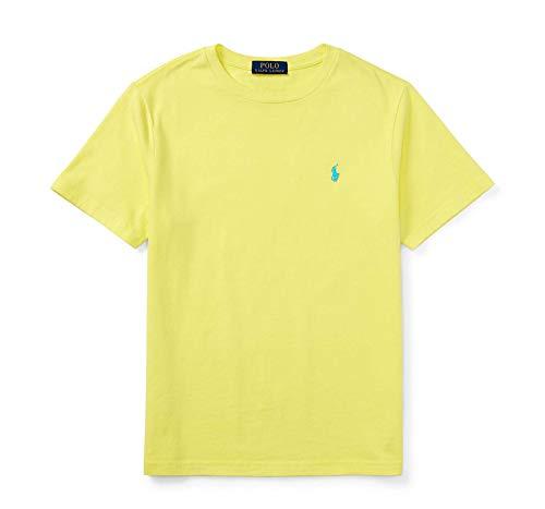 Ralph Lauren Polo Men Custom Fit Crew Neck Pony Logo T-Shirt (Medium, Yellow)