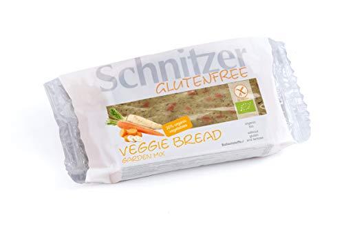 Schnitzer GLUTENFREE Schnitzer Schnittbrot Veggie Bread Garden Mix mit Gemüse glutenfrei, 6er Pack (6 x 125 g)