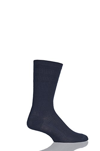 HJ Hall Herren Bamboo Softop Socken, Blau (Navy 4), 41/44 DE (Hersteller Größe: 6/11)