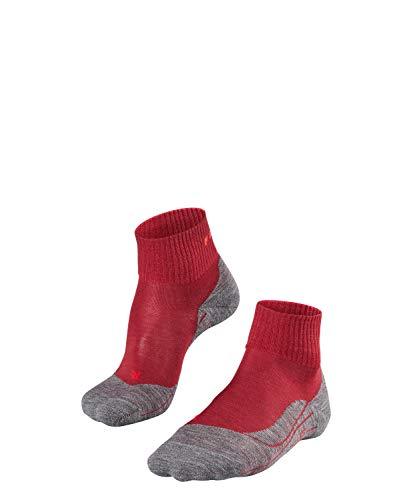 FALKE Damen, Wandersocken TK5 Short Merinowollmischung, 1 er Pack, Rot (Ruby 8830), Größe: 39-40