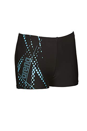 ARENA Jungen Badehose Burst, Black-Sea Blue, 152