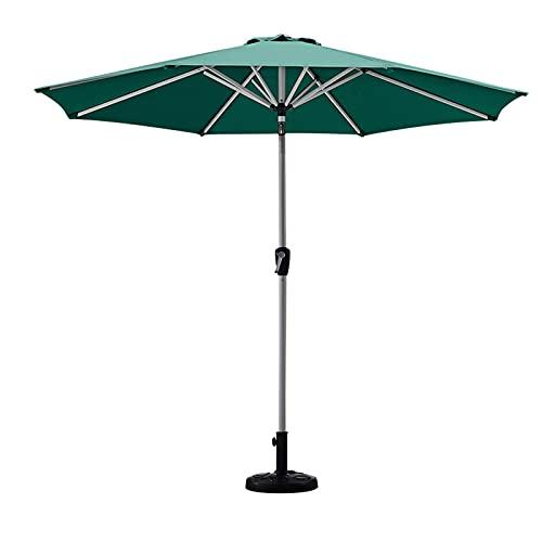 Camping Shelters Equipo de sombreado para exteriores, mesa de patio y silla, sombrilla de piscina, mango de manivela de aleación duradera, paraguas de sol redondo (tamaño: 2,7 m, color: D)
