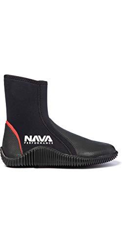 Nava Performance 5mm Neopreno Neopreno con Cremallera Botas NAVABT02 - Negro - Unisex