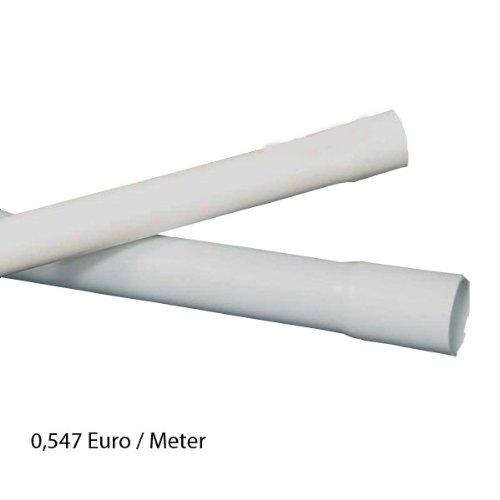 40m M16 16mm Kopos Elektrorohr Stangenrohr Leerrohr Elektrokabel-Rohr gemufft hellgrau PVC NEU
