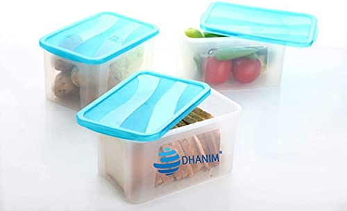 DHANIM Unbreakable Multi Storage Box Bread Box/Airtight Food Grade Plastic Container for Kitchen,Refrigerator Storage of Bread/Vegetable/Grocery/Dry Fruits/Snacks & Freezer Storage (1, 2000 ML)