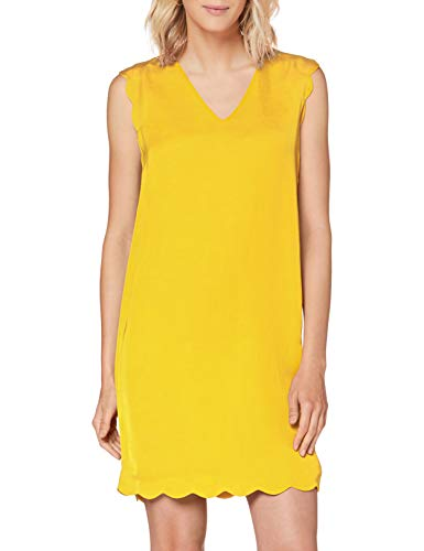 ESPRIT Collection Damen 050EO1E310 Kleid, 750/YELLOW, 34