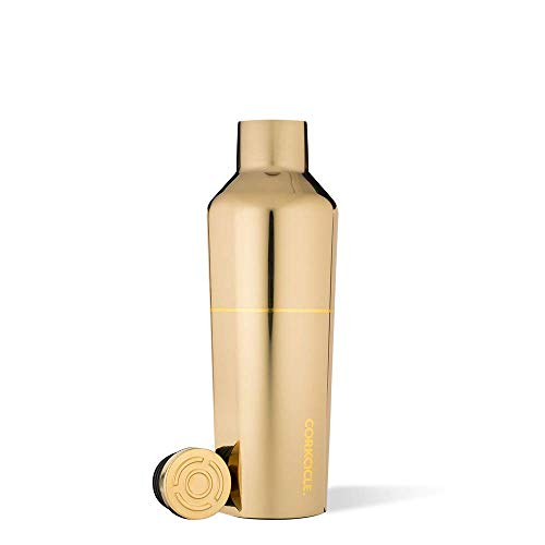 Corkcicle 16oz Canteen Star Wars Collection - Water Bottle & Thermos - Triple Insulated Shatterproof Stainless Steel, Disney Star Wars- C3PO