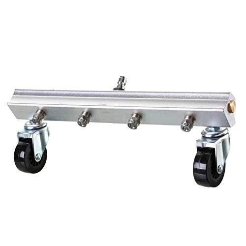 Coomir Auto-frame voor het reinigen van hogedrukreinigers met water en bezem.