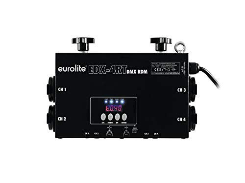 Eurolite EDX-4RT dimmer pak DMX 4 kanalen 3680 watt 16 A + 4 Schuko-stopcontacten + truss-bevestiging