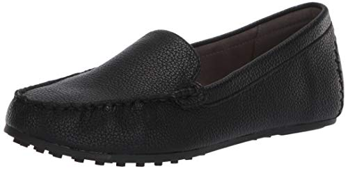 Aerosoles Women's Casual, Driving MOC, Flat Style Loafer, Black, 8