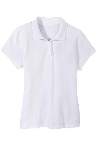 OWIM Damen Poloshirt - Berufsbekleidung 3-Knopfleiste Weiß L 44/46