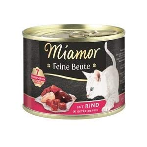 Miamor Feine Beute Rind | 12x 185g Katzenfutter nass