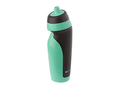 Nike FC0152 Silicone Sport Water Bottle, 570 ml (Green), Pack of 1