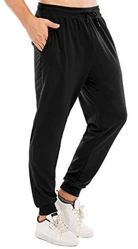 CMTOP Hombre Pants Pantalones Deportivos Largos Pantalones de Deporte para Ajustados Hombre Casuales Deporte Elásticos Joggers Largos Adecuado para Deportes Fitness (Negro, M)