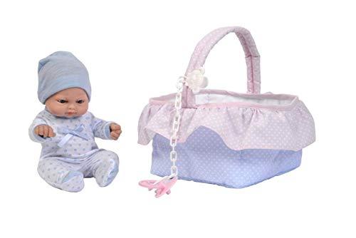 Falca-28017 Puppe mit Babyschale, 24 cm, Mehrfarbig (28017)