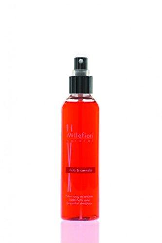 Millefiori Mela und Cannella Luxuriöse Raumspray Natural 150 ml, Plastik, Orange, 4.6 x 4 x 17 cm