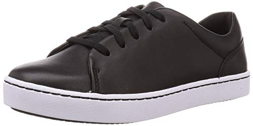 Clarks Pawley Springs, Zapatillas Mujer, Cuero Negro, 39.5 EU