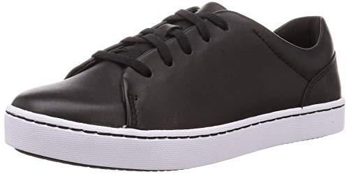 Clarks Pawley Springs, Zapatillas Mujer, Cuero Negro, 35.5 EU