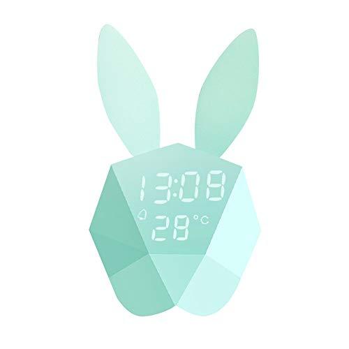 Xiuxiu LED Wecker und Pinguin Silikon Pat Light mit USB-Lademagnet Timing Snooze Sprachsteuerung Nachtlicht für Schlafzimmer