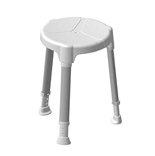 SoNa24 - Duschhocker TAYO Dietz mit runder softtouch Sitzfläche / höhenverstellbar / rutschsicher / platzsparend