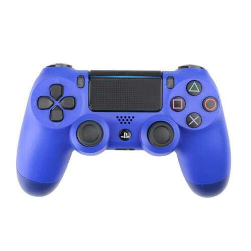 PS4 Famepad, PS4 Wireless Bluetooth Gamepad, Vibrante con Pantalla táctil Jack para Auriculares de Seis Ejes (Azul)