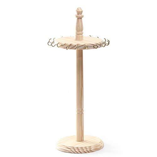 nuobaby Sieraden Rek Creatieve Effen Hout Sieraden Rek Ketting Display Stand Effen Hout Display Rek Sieraden Opslag Hanger Display Plank