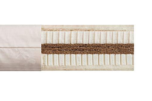 bionik Biotrio Bio-Kindermatratze Matratze für Kinderbett mit Kern aus latexierter Kokosfaser und Naturlatex 90 x 200 x 14 cm