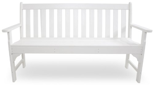 "POLYWOOD GNB60WH Vineyard 60"" Bench, White"