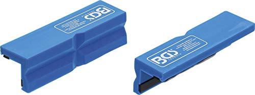 BGS 9796 | Schraubstock-Schutzbacken | 2-tlg. | Kunststoff | Breite 100 mm | mit Magnet | Alu | Schonbacken