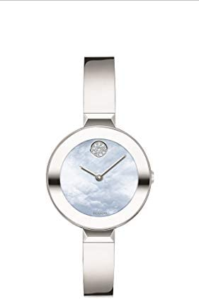 Movado Women s Bold Bangle Swiss Quartz Watch with Stainless Steel Strap Silver 8 5 Model 3600629 product image
