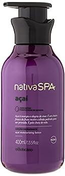 Nativa Spa Acai Body Lotion by O Boticario   30 Hours Of Hydration   Loção Hidratante   Fragranced Skin Moisturizer with Purified Quinoa Drops  13.5 fl oz