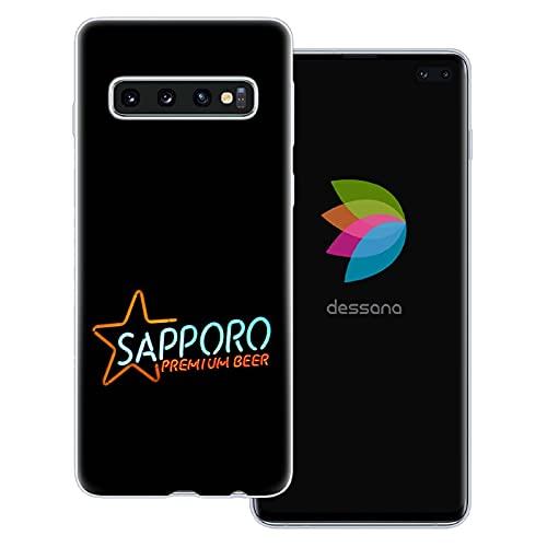dessana Japan Sightseeing - Cover trasparente per Samsung Galaxy S10+ Sapporo birra