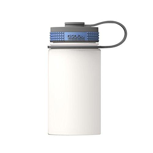 Asobu Mini Hicker Thermosfles, volwassenen, uniseks, wit, 355ml