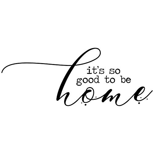 My Vinyl Story - It's so Good to be Home - Wall Decals for Bedroom Family Decal Quote Word Sayings Sticker Sign Family Decor Removable Vinyl for Living Room Home 26x10 Inches