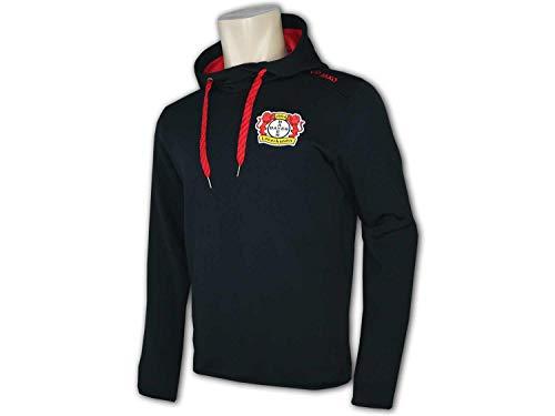 Jako Bayer 04 Leverkusen Powerstretch Hoody Kapuzenpullover schwarz-rot Kinder schwarz-rot, 140