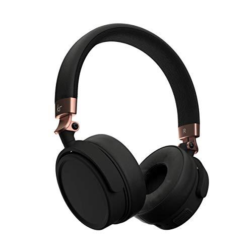 Kitsound Accent 60 - Auriculares inalámbricos con Bluetooth, Auriculares con asa de Llamadas y Bolsa de Transporte Talla única Oro Rosa
