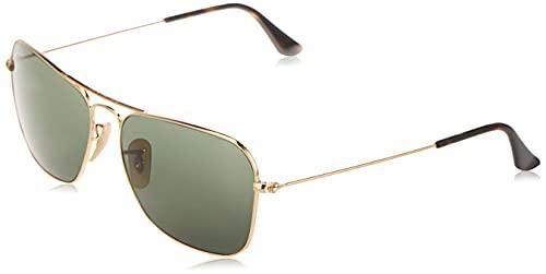 Ray-Ban RB3136 - Caravan, gafas de sol, unisex, color negro (gold), 58 15
