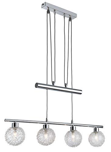 Nino Leuchten Pendelleuchte, Metall, Silber, 10 x 75 x 100 cm