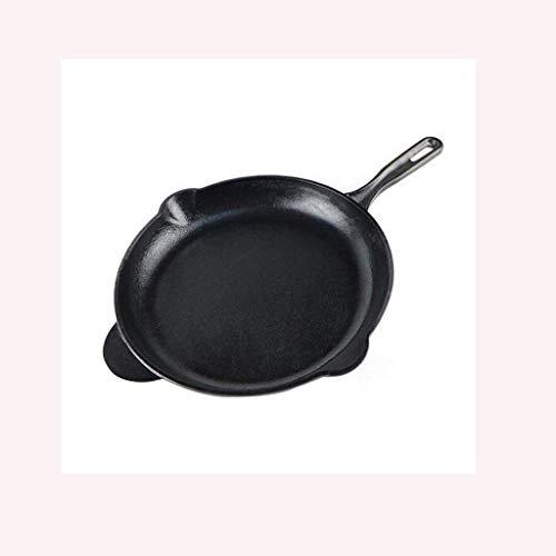 DZX Poêle à Frire en Fonte-Wok Poêle antiadhésive, Convient à Une variété de cuisinières, y Compris cuisinière à Induction Poêle antiadhésive, Poêle antiadhésive Non revêtue, 31 cm, multicuiseur