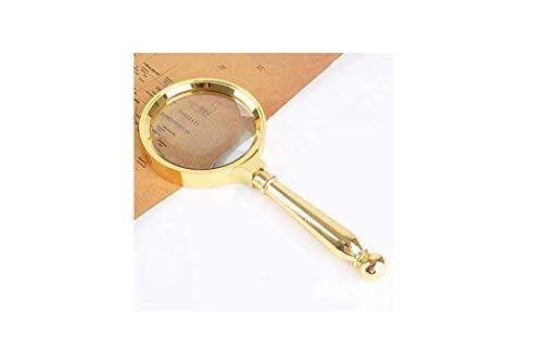 I—Schulmaterial Metall Vergrößerungsglas HD Optisch 20 fach Zum Lesen geeignet alter Mann Leselupe Schülerlehrbuch Vergrößern Spiegel Handheld Lupe