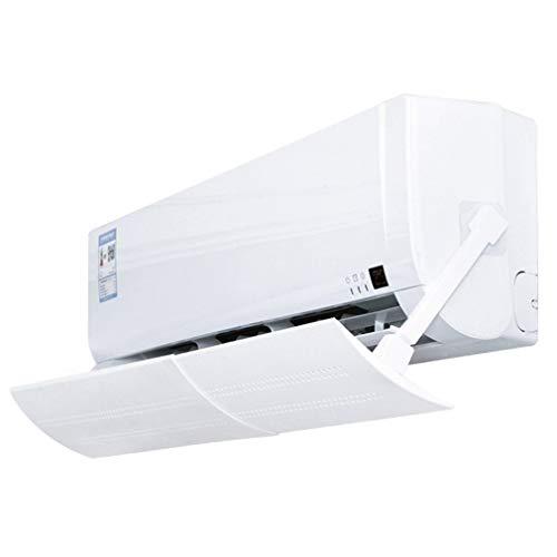 Deflector de Salida de Aire de Campana de Aire de soplado Directo Deflector de Aire Acondicionado Colgante de Parabrisas (Blanco)