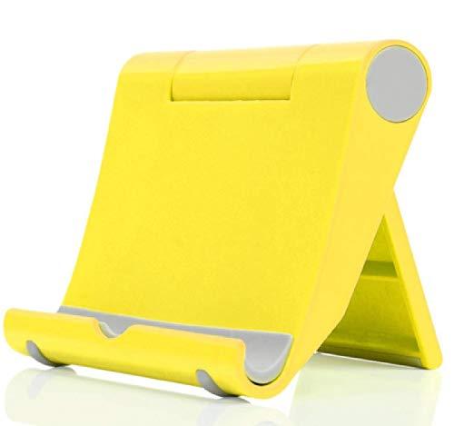 3 Paquetes de Soporte de Tableta portátil con Soporte para teléfono Celular Ajustable en Varios ángulos (Yellow)