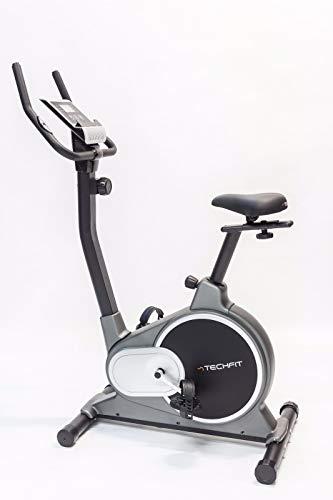 TechFit B500 Bicicletta di Fitness, Cyclette Magnetica per Esercizi, Cyclette Dispositivo di Ripristino con Sella Regolabile, Bici Cardio, Sensori a impulsi e Monitor LCD