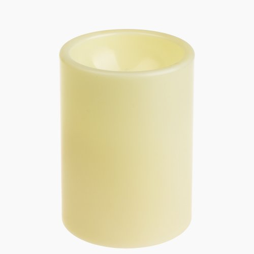 GiveU flammenlose LED-Kerze für draußen, batteriebetrieben, aus Kunststoff, elfenbeinfarben, Pack 1