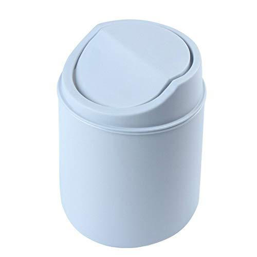 Setsail Desktop Mini Mülleimer Tisch Mülleimer Papierkorb Tischmülleimer aus Edelstahl,Abfalleimer Schwingdeckeleimer Tischabfalleimer (Grau)