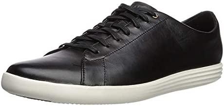 Cole Haan Men's Grand Crosscourt II Sneakers, Black Lthr/White, 12