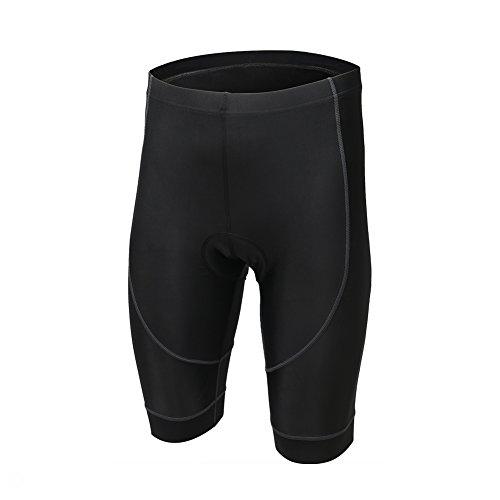 LSERVER - Pantalón Corto para Ciclista, Secado rápido, con cojín 3D, Transpirable, cómodo, Hombre, Color Lobo, tamaño S (Pour la Hauteur: 156-160cm la Poids: 40-50kg)