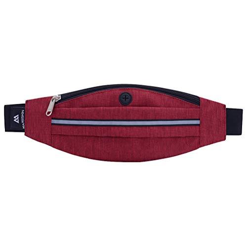 Sports de plein air taille sac Fanny sac sac pour la marche Jogging Randonnée Escalade Camping (Rouge)