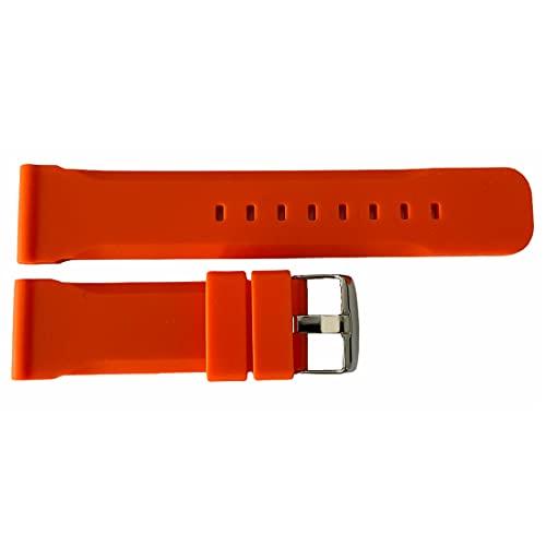 Buzzufy Correa de reloj de silicona naranja cronógrafo 22mm